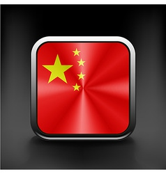 Simple flat icon china flag premium basic design vector