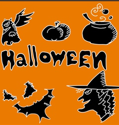 Icon for halloween party night vector