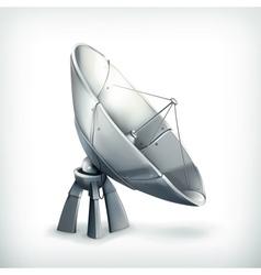 Parabolic antenna icon vector