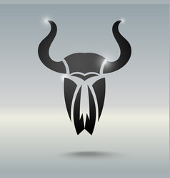 Tattoo stylized skull of a bull vector