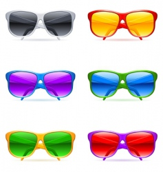 Sunglasses set vector
