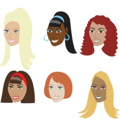 Fake hair styles vector