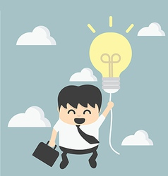 Businessman with a success balloon vector