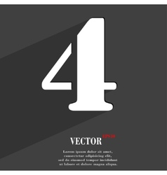 Number four icon symbol flat modern web design vector