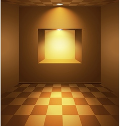 Brown room with niche vector