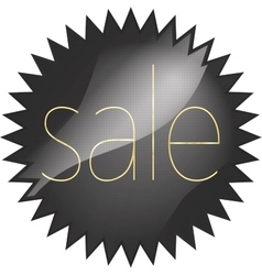 Black glossy price vector