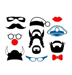 False mustache funny glasses and other items for vector