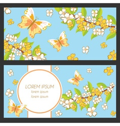 Set of greeting card vector