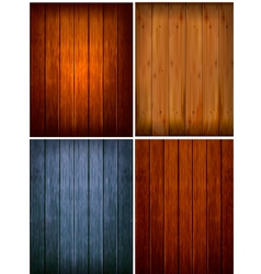 Set of wood backgrounds vector