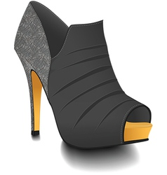 Fashion heel boot vector