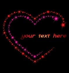 Valentine sparkle background vector