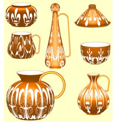 Pottery collection vector