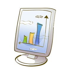 Icon monitor vector