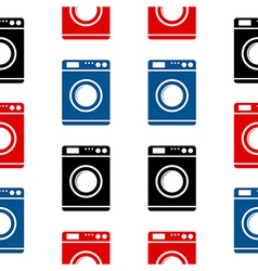Washing machine symbol seamless pattern vector