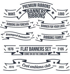 Original banners and ribbon vector