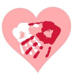 Romantic valentine postcard vector