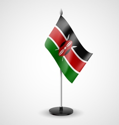 Table flag of kenya vector
