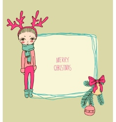 Cute christmas card in vector