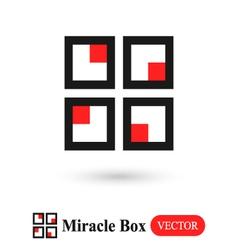 Miracle box abstract symbol vector