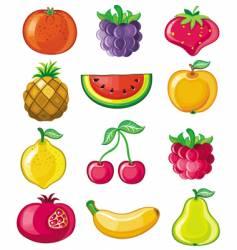 Set of juicy fruit vector