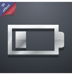 Battery low level icon symbol 3d style trendy vector