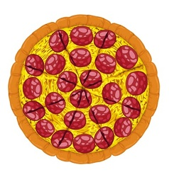 Pepperoni pizza slices vector