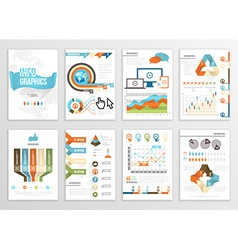 Big set of infographics elements business flyer vector