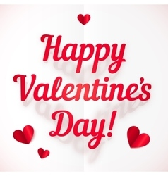 Happy valentines day sign in folded paper style vector