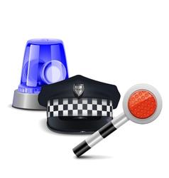 Police control concept vector