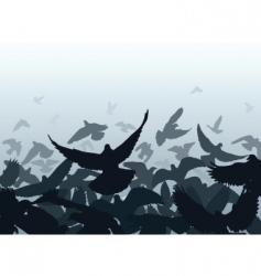 Pigeon edge vector