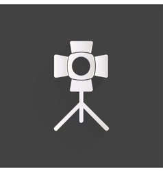 Spotlight icon light for photocamera vector