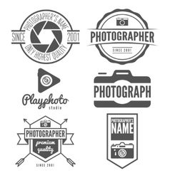 Set of logo emblem print sticker label or vector