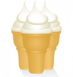 Vanilla ice creams vector