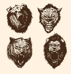 Set wild animals vector