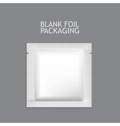 Mockup blank foil packaging vector