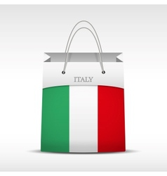 Shopping bag with italy flag vector