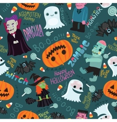 Happy halloween seamless pattern vector