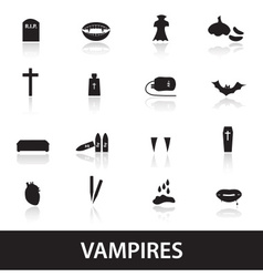 Vampire icons eps10 vector