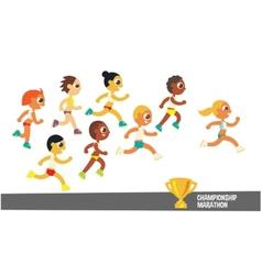 Champion runners vector