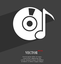 Cd or dvd icon symbol flat modern web design with vector