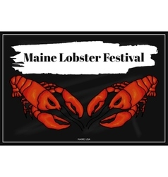 Lobster festival in america colorful vector