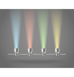 Color lamps vector