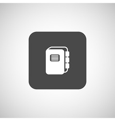 Web button flat design with shadow vector