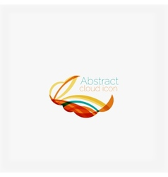 Clean elegant circle shaped abstract geometric vector