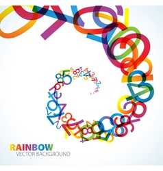 Rainbow number background vector