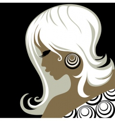 Closeup vintage woman vector