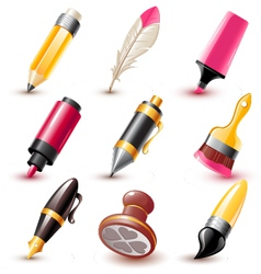 Pen icons vector