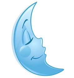 Sleeping moon vector