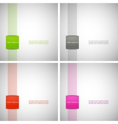 Set of simple backgrounds with colored dies eps vector