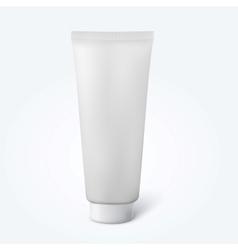 Blank thin cosmetic tube vector